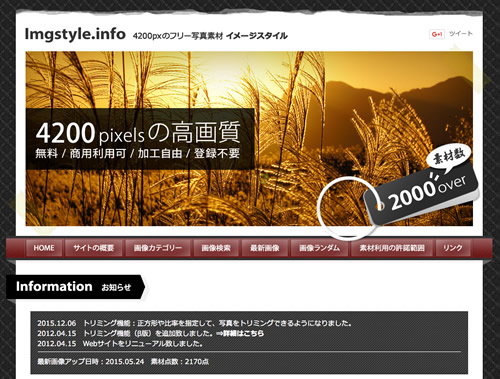写真素材サイトイメージスタイル