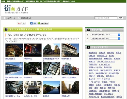 写真素材サイト街画ガイド